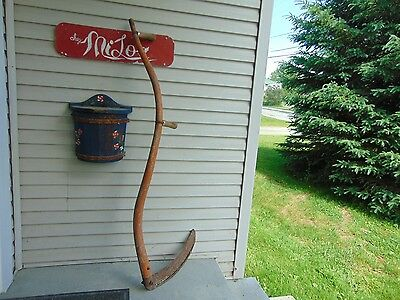 vintage /antique   mowing scythe    nice #   4559