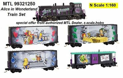 Micro-Trains MTL N Scale Alice in Wonderland Model Train Set Collector $0 SHIP
