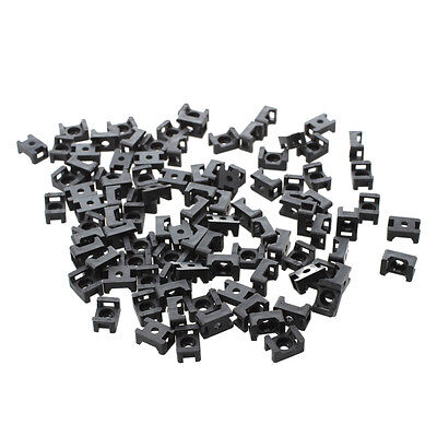 New Black 4.5mm Width Cable Tie Base Saddle Type Mount Wire Holder 100Pcs B K5S4