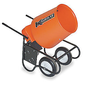KUSHLAN PRODUCTS Wheelbarrow Mixer,3.5 Cu. Ft.,120V,3/4HP, 350W