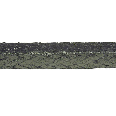 PALMETTO PACKING Packing Seal, 1/2 Sq In., 25 Ft, 5000W, Shiny Gray