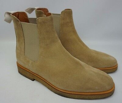 COMMON PROJECTS CHELSEA Boots Tan Suede Shoes Size 40