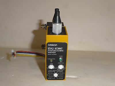 Omron photoelectric switch E3A2-XCM4T bolts & fiber tips included