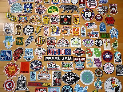 Pearl Jam - Huge Concert Tour Sticker And Pin Lot - Instant Collection - Vedder