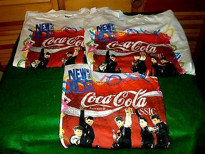 """Vintage """"new Kids On The Block"""" Coca Cola Classic Graphic T-Shirts Szxl All Co"""