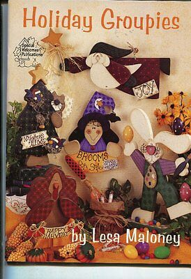 PAINTING BOOK - HOLIDAY GROUPIES by LESA MALONEY
