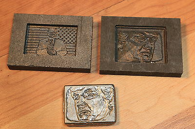 Donald Trump Graphite mold for casting Silver Gold Glass Aluminum - Optic mold