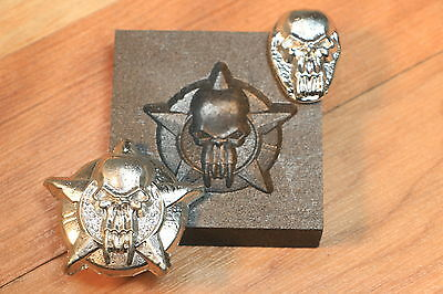 Skull Star Graphite mold for casting Silver Gold Glass ingot cast Parts4less1999