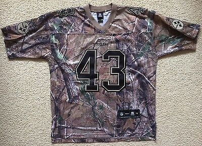 Pittsburgh Steelers Troy Polamalu #43 NFL Jersey Camouflage Realtree Mens M VGC