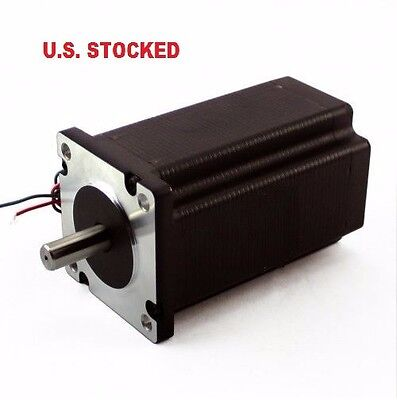 "1Pcs Nema23 570Oz/in 5A 1/4"" Dual Shaft Stepper Motor"