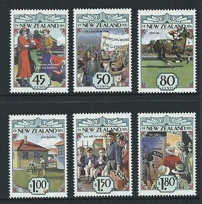 MINT 1993 NEW ZEALAND NZ IN THE 1930's COMPLETE SET OF 6 MUH FV $6.05