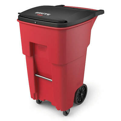 RUBBERMAID Trash Can,Free-Standing,Roll Out,65 gal., 1971977