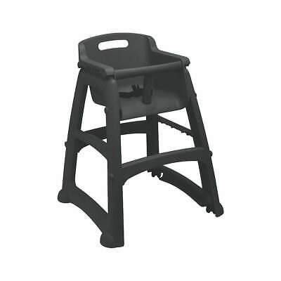 RUBBERMAID COMMERCIAL PRODUCT Plastic Youth High Chair,Black, FG780608BLA, Black