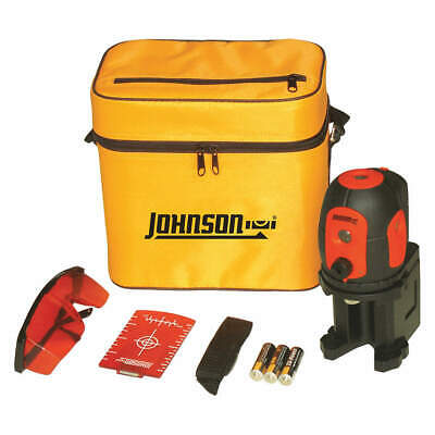 JOHNSON Dot Laser Level,Int/Ext,Red,200 ft., 40-6680