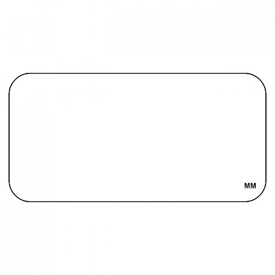 DayMark IT113391 MoveMark Blank Removable Label, 1 x 2 (Roll of 1000)