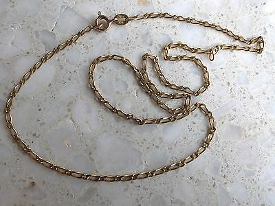 9ct yellow gold Figaro link chain necklace 375 9k 4.2g