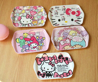 Dinnerware Cute Hellokitty Melamine Plate Dish Fruit Snack Tray Tableware ly-69K