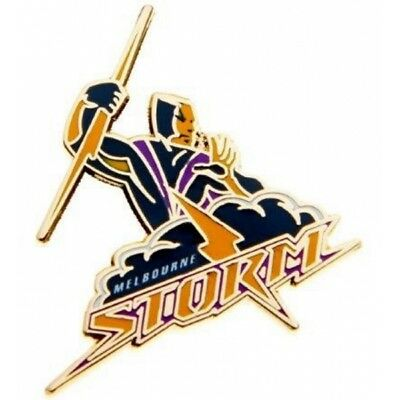 Melbourne Storm Official NRL Logo Lapel Tie Pin FREE POST