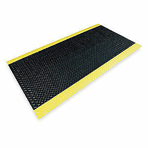 Switchboard Mat,Black,YllwBrdr,3ftx12ft, 831C0036BY-12, Black with Yellow Border