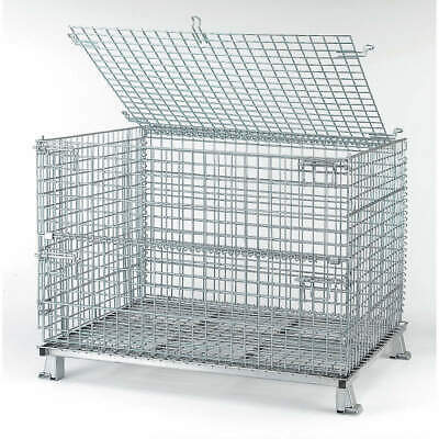 NASHVIL Steel Wire Mesh Collapsible Container,48 In W,Silver, C404830S4L, Silver
