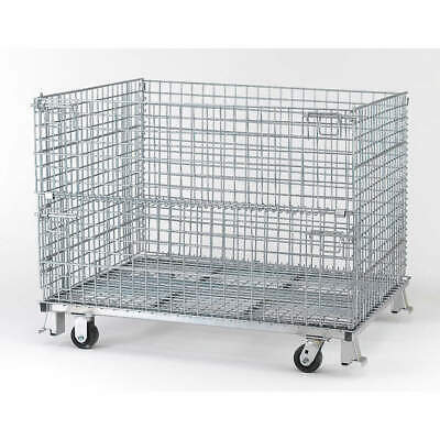 NASHVIL Steel Wire Mesh Collapsible Container,48 In W,Silver, C404830S4C, Silver