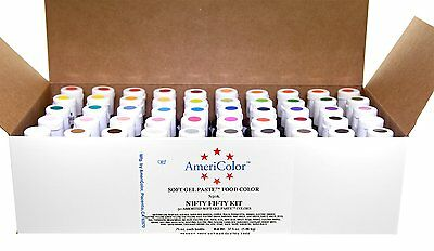 AmeriColor Nifty Fifty Kit, .75 oz Soft Gel Paste, 50 Pack