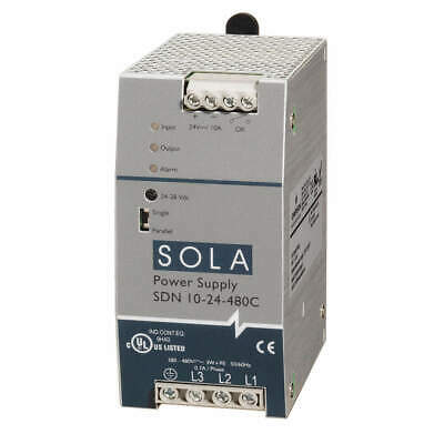 SOLA/HEVI-DUTY DC Power Supply,24VDC,10A,47-63Hz, SDN10-24-480C