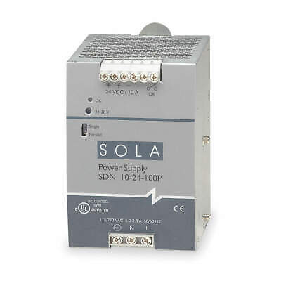 SOLA/HEVI-DUTY DC Power Supply,24VDC,10A,47-63Hz, SDN10-24-100P