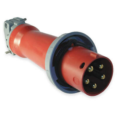 HUBBELL WIRING DEVICE-KELLEMS IEC Pin and Sleeve Plug,4P,5W,60A,480V, HBL560P7W