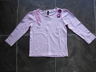 Girl's Origami Pink Long Sleeve Cotton Top Size 4 VGUC
