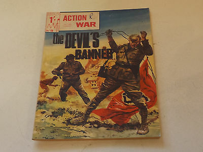 ACTION WAR PICTURE LIBRARY,NO 19,1966 ISSUE,GOOD FOR AGE,51 yrs old,RARE COMIC.