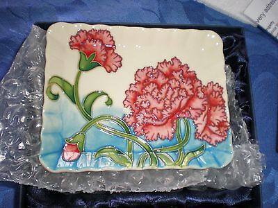 Old Tupton Pin Tray - Carnation Design Decoration - New In Box