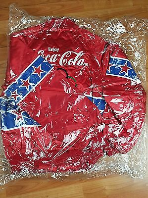PERFECT VINTAGE Authentic Coca Cola USA 1996 Olympics Windbreaker Bomber Jacket