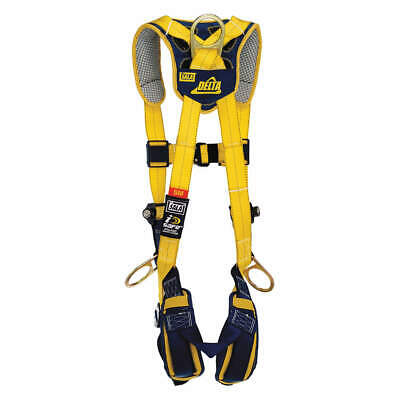 DBI-SALA Harness,Weight Cap. 420 lb.,M, 1100822, Yellow