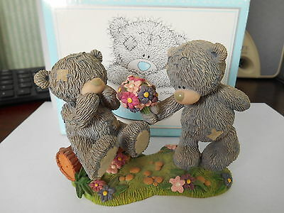 me to you figurine  teddy bears LOVE BLOSSOMS   boxed