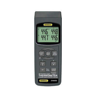 GENERAL Thermocouple Thermometer,Type K,4 Inputs, DT4947SD