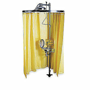 BRA Stainless Steel Frame, Vinyl Curtain Privacy Curtain,Yellow, S19-330, Yellow