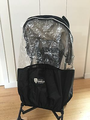 Black Vee Bee Stroller Shield Wind And Rain Cover