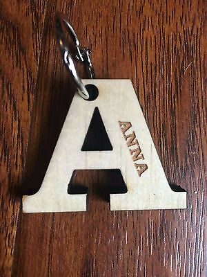 Personalised Wood Keyring Bag Tag (Production to continue 10-11-17)