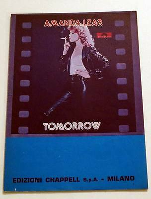 Partition vintage sheet music AMANDA LEAR : Tomorrow * 70's Italy