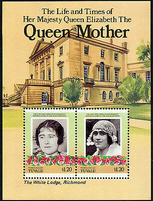TUVALU - NUKULAELAE 1985 Queen Elizabeth the Queen Mother, MINI SHEET, MINT NH
