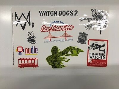 WATCH DOGS 2 SAN FRANCISCO Collectors Edition  laptop stickers Only NEW UK