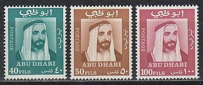 Abu Dhabi 1967 ** Mi.38,39,41 Freimarken Definitives