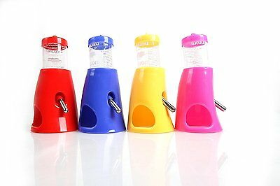 Motina Small Animal Pet Hideout Drinking 2-in-1 Water Bottle Dwarf Hamster mouse