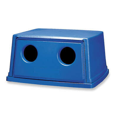 RUBBERMAID Bottle/Can Recycling Top,Plastic,Blue, FG256L00DBLUE, Blue
