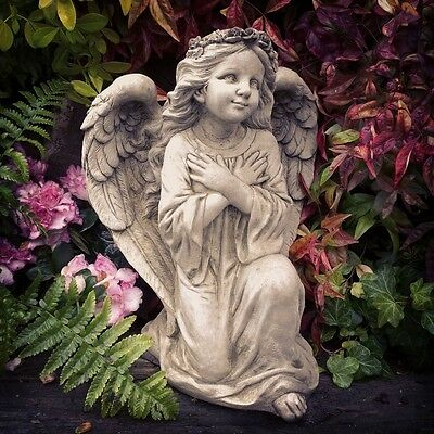 Fairy Angel Wings Stone Garden Statue Ornament Sculpture Memorial Large 7kg A