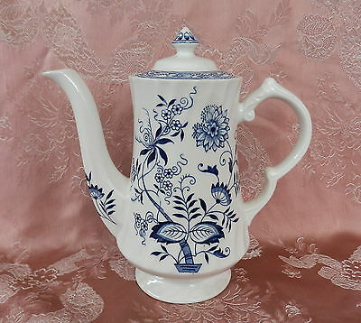 WOOD & SONS     Old Vienna    BLUE ONION   Coffee Pot     RETRO VINTAGE