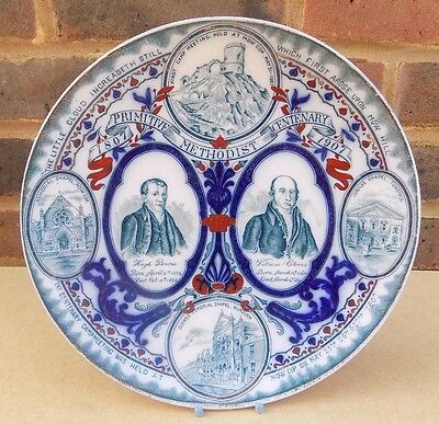 Antique WOODS & SONS BURSLEM Primitive Methodist Centenary Plate 1907