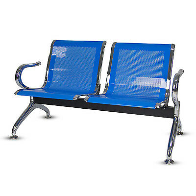 2-Seat Waiting Chairs Office Salon Barber Bench Bank Airport Reception Chair