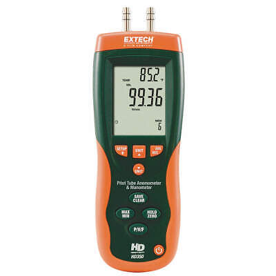 """EXTECH Digital Micromanometer,0 to 20"""" WC, HD350"""